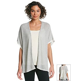 Eyeshadow® Textured Crochet Cardigan