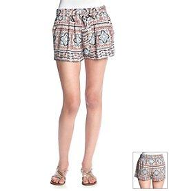 Boom Boom Block Paisley Boho Shorts