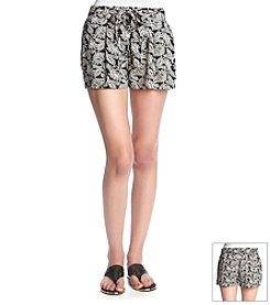 Boom Boom Pasha Black Paisley Shorts