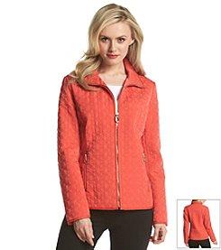 Ivanka Trump® Zipfront Quilted Coat