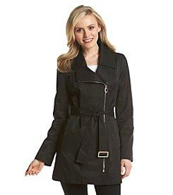 Ivanka Trump® Asymmetric Zip Belted Trench Coat