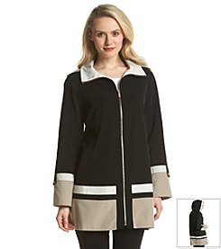 Jones New York® Hooded A-Line Coat
