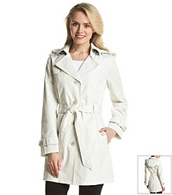 Jones New York® Single-Breasted Belted Trench Coat