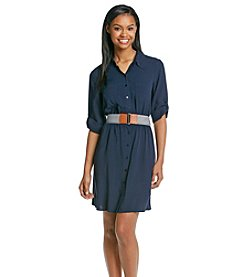 A. Byer Belted Shirtdress