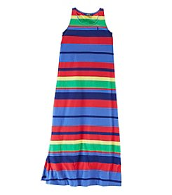 Ralph Lauren Childrenswear Girls' 7-16 Striped Maxi Dress