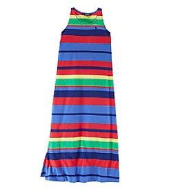 Ralph Lauren Childrenswear Girls' 7-16 Striped Maxi Dress