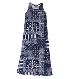 Ralph Lauren Childrenswear Girls' 7-16 Printed Maxi Dress