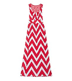 Rare Editions® Girls' 7-16 Chevron Maxi Dress