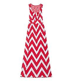Rare Editions® Girls' 7-16 Chevron Maxi Dress