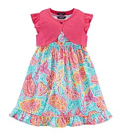 Chaps® Girls' 2T-6X Paisley Shrug Dress