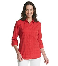 Breckenridge® Stars And Stripes Forever Solid Textured Woven Shirt
