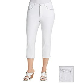Laura Ashley® White Denim Crop