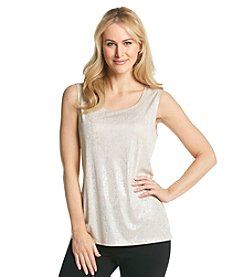 Laura Ashley® Trip Ready Gold Glitter Tank