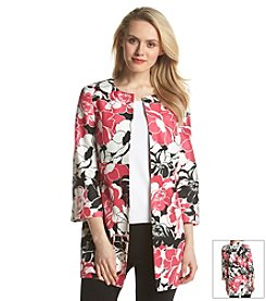 Kasper® Rose Printed Coat