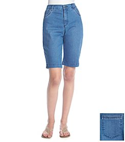 Gloria Vanderbilt® Amanda Studded Bermuda Shorts