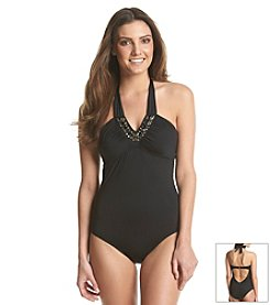 Laundry Glamour Bandeau Swim One Piece Swimsuit