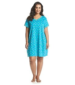Intimate Essentials® Plus Size Plus Size V-Neck Sleep Shirt