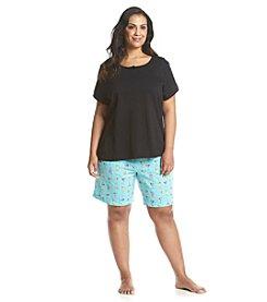 Intimate Essentials Plus Size Bermuda Shorts Plus Size Pajama Set