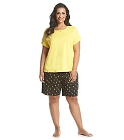 Intimate Essentials® Plus Size Bermuda Shorts Plus Size Pajama Set