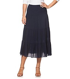 Chaps® Crinkle Tiered Skirt