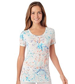 Cuddl Duds® Softwear Stretch Swirls Lounge Tee