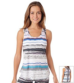 Cuddl Duds® Sport Layer Striped Racerback Tank