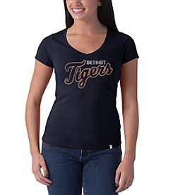47 Brand ® MLB® Detroit Tigers Women's Stripe Half Sleeve V-Neck Tee