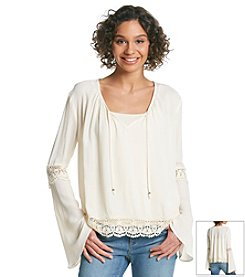 Taylor & Sage™ Lace Peasant Top