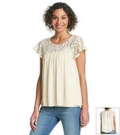 Taylor & Sage™ Flutter Sleeve Top