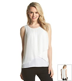 NY Collection Tiered Blouse