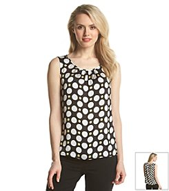 Nine West® Dot Printed Pintuck Cami