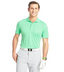Izod Men's Short Sleeve Solid Grid Polo