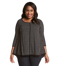 Jones New York Sport® Plus Size Asymmetrical Button-Up Shirt