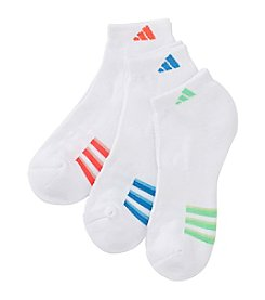 adidas® 3 Pack Cushion Stripe Socks