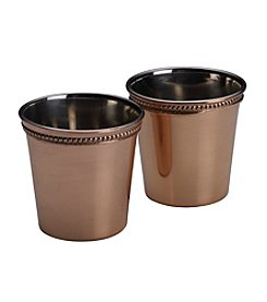 Mikasa® Set of 2 Solid Copper Shot Glasses