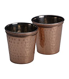 Mikasa® Set of 2 Hammered Solid Copper Shot Glasses