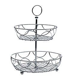 Towle® Living 2-Tiered Chrome Round Countertop Basket