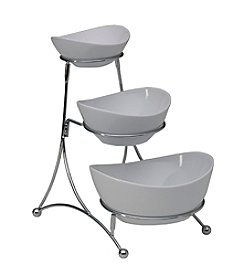 Towle® Living 3-Tiered Ceramic Bowl Server