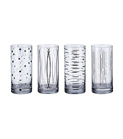 Mikasa® Cheers Metallics Platinum Set of 4 Highball Glasses