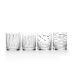 Mikasa® Cheers Metallics Platinum Set of 4 Double Old Fashioned Glasses