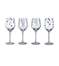 Mikasa® Cheers Metallics Platinum Set of 4 Wine Glasses