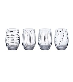 Mikasa® Cheers Metallics Platinum Set of 4 Stemless Wine Glasses