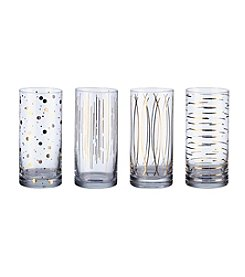 Mikasa® Cheers Metallics Gold Set of 4 Highball Glasses