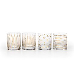Mikasa® Cheers Metallics Gold Set of 4 Double Old Fashioned Glasses