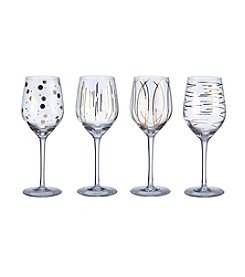 Mikasa® Cheers Metallics Gold Set of 4 Wine Glasses