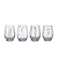 Mikasa® Cheers Metallics Gold Set of 4 Stemless Wine Glasses
