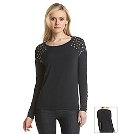 MICHAEL Michael Kors® Top with Gold Embellishment