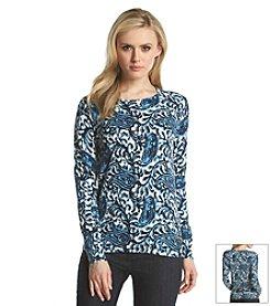 MICHAEL Michael Kors® Paisley Print Sweater