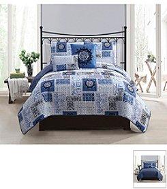 Victoria Classics Seychelle 5-pc. Reversible Quilt Set