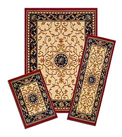 Achim Wrought Iron Medallion Capri 3-pc. Rug Set